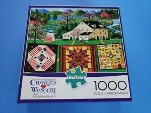 1000 Piece Jigsaw Puzzle Charles Wysocki THE QUILTMAKER LADY  New