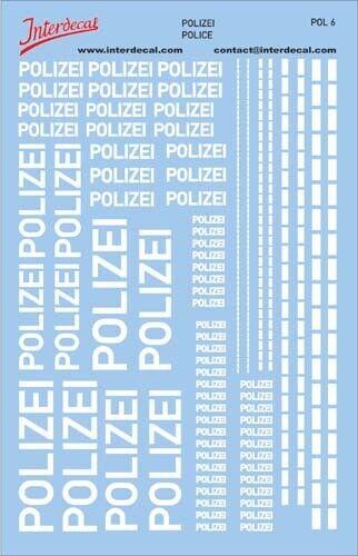 Decal Naßschiebebild 1//43 1//24 1//18 POL6 140x90 mm Polizei