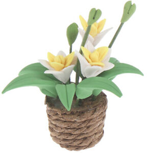 1:12 Doll House Miniatures Mini Clay Flower Pots Ornaments T ^