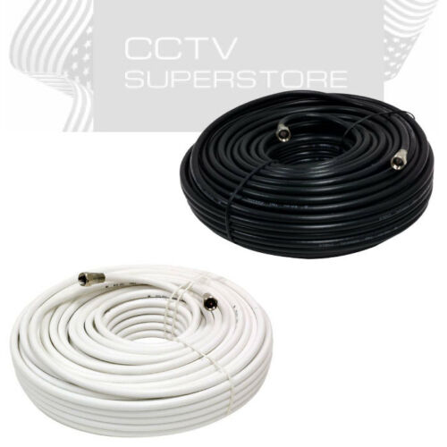 Coaxial Cable Antenna Extension 25ft 50ft 100ft HDTV Double Shield Coax