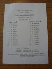 06/03/1982 Aston Villa Reserves v Newcastle United Reserves  (Single Sheet, Scor