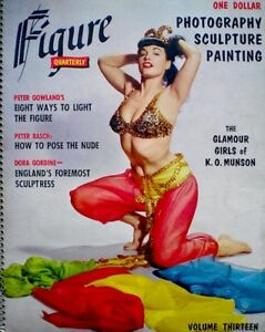 Bettie-Page-Magazine-1956-Figure-Quarterly-Zoltan-Glass-Munson-Pinup-Matisse-EX