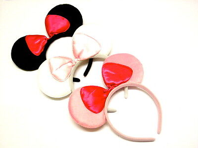Gorgeous Set Of Three Mouse Ear Alice Bands Fancy Dress Hen Party Head Bands