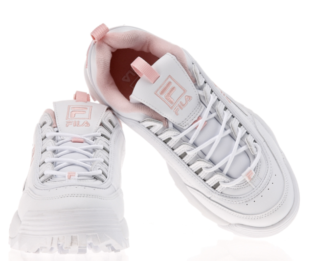 ✈️ FILA DISRUPTOR II 2 Women White Pink Shoes US Size Expedited via DHL Ship