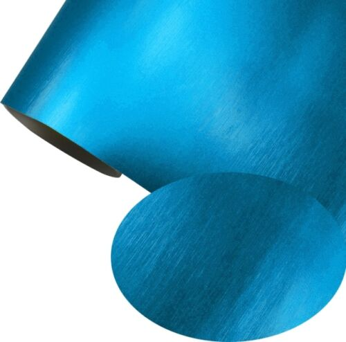 Autofolie Hellblau Matt Chrom metallic gebürstet 152 cm x 200 cm Luftkanäle