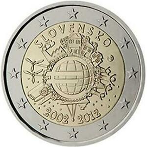 2-Euro-Slovaquie-2012-Ume-Dixieme-Anniversaire-Union-Monetaire