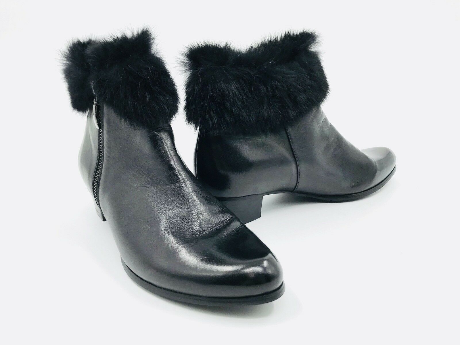 Spring Step Burnside Black Leather Bootie Women's Size 42 / 10.5-11