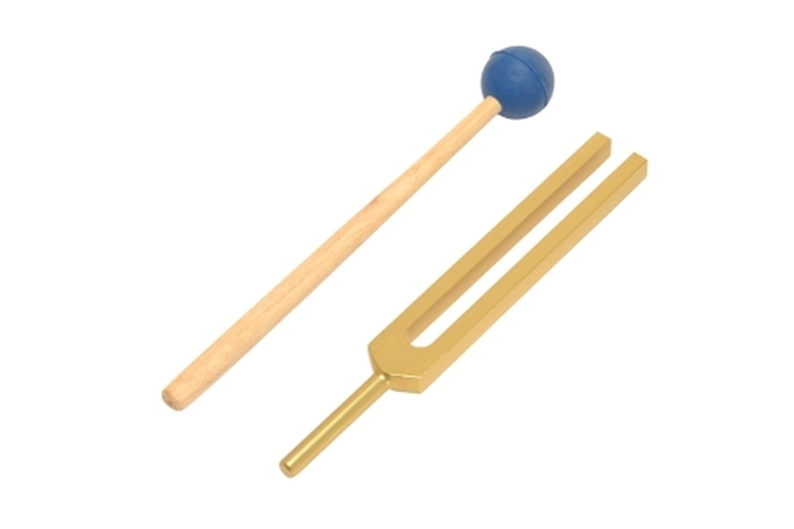 NEW gold Gabriel Tuning Fork for Healing Meditation DNA Balancing Repair+Mallet