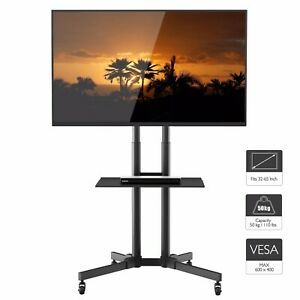 Mobile Tv Stand Trolley Cart Mount Exhibition Display For 32 65 Plasma Lcd Led 9648345448401 Ebay