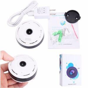 90dbead134f 360 Degree Mini Wireless 1080P HD Fisheye WiFi Panoramic IP Camera ...