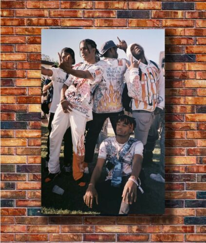 Hot Fabric Poster Playboi Carti Asap Mob Asap Rocky Rapper Music Star 36x24Z1545