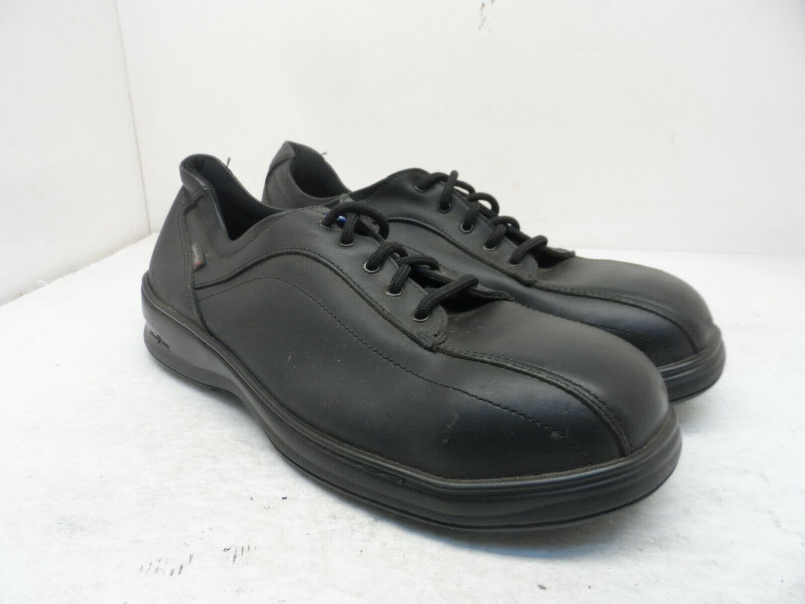 Mellow Walk Men's PATRICK 2 Lace-Up Steel Toe Work Shoes 545202 Black Size 10EE