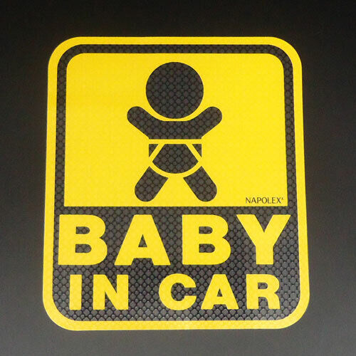 Baby /& Child in Car Safety Sign Sticker Paste Inside Window with Special Sucker