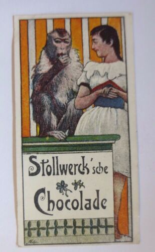 """ Stollwerck "" Gruppe 134, no. 5, Album no. 3, Rider and Monkey 54931"