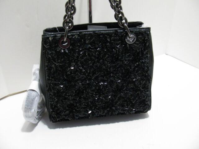 21747fec89a90e Authentic Michael Kors Flora Burst Small Leather North South Satchel - Black