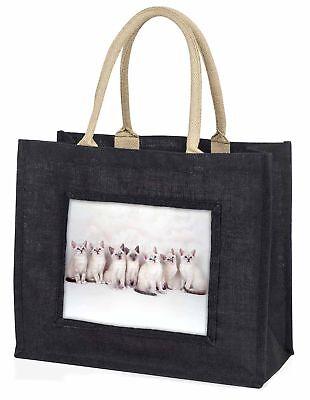 Schneeschuh Kätzchen Schnee Schuhe Katzen große schwarze Einkaufstasche