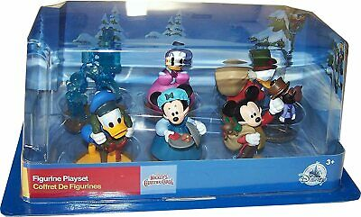 Christmas Carol Figurine Playset 6 Piece Figure Play Set Charles Dickens Inspired Special Edition Disney Store Mickeys