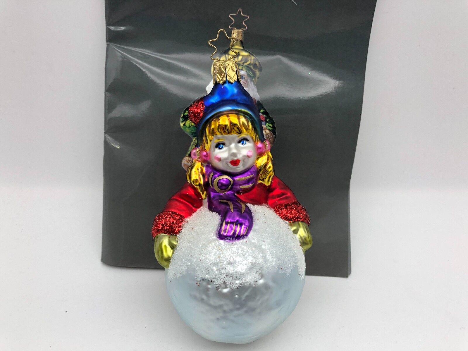 Inge Glas Birgits Christmas Collection Im Schnee.. 13 cm. Weihnachtsbaumschmuck