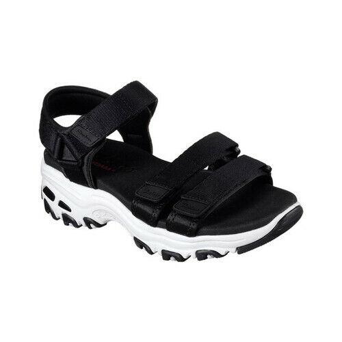 skechers sandals black