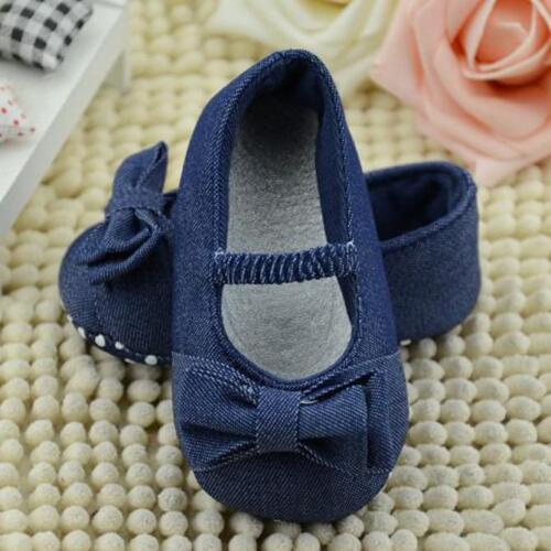 Petit Enfant Nouveau-Né Fille Semelle Souple Chaussures Crèche Anti-dérapant