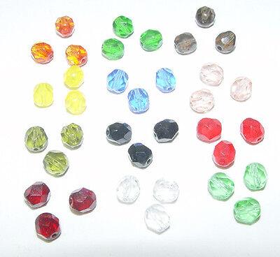 Czech fire polish crystal 4mm @100 pieces