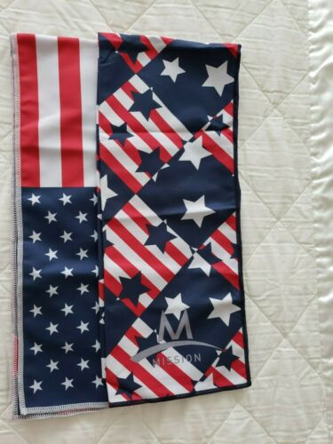 """Mission X2 EnduraCool  Cools Instantly When Wet USA Flag 12/"""" X 33/"""" NEW"""