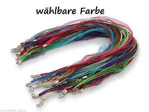 5 Halsketten Organzaband Schleifenband Schmuckband Kette ** Farbe Wählbar Unterscheidungskraft FüR Seine Traditionellen Eigenschaften Halsketten & Anhänger Modeschmuck