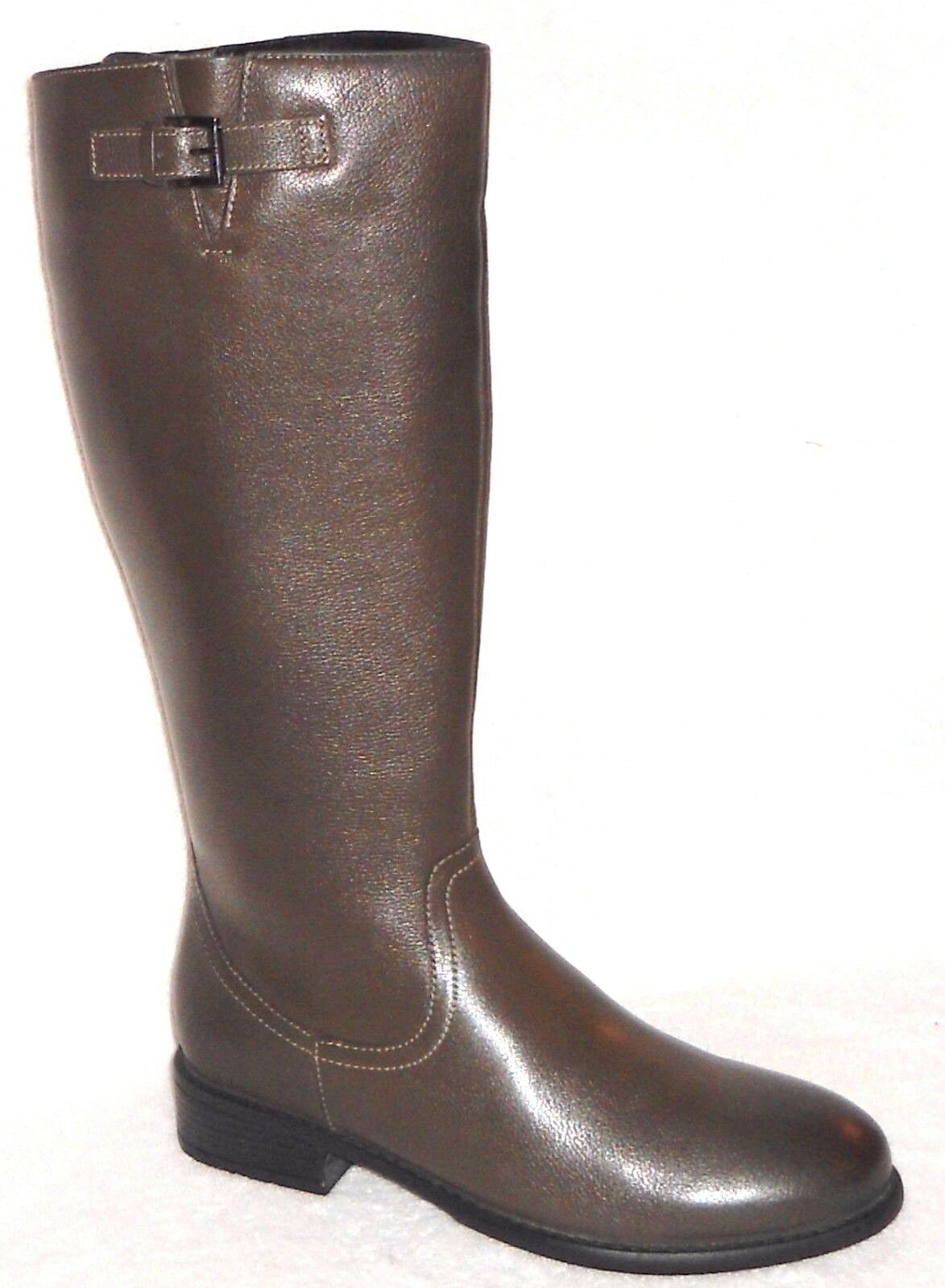 New ST. JOHN'S BAY JODIE DARK OLIVE LEATHER KNEE HIGH BOOTS 6 M