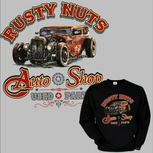 Hotrod Vintage Automotive Speed Kustom Shop Car Jumper Sweatshirt 1177 Bl