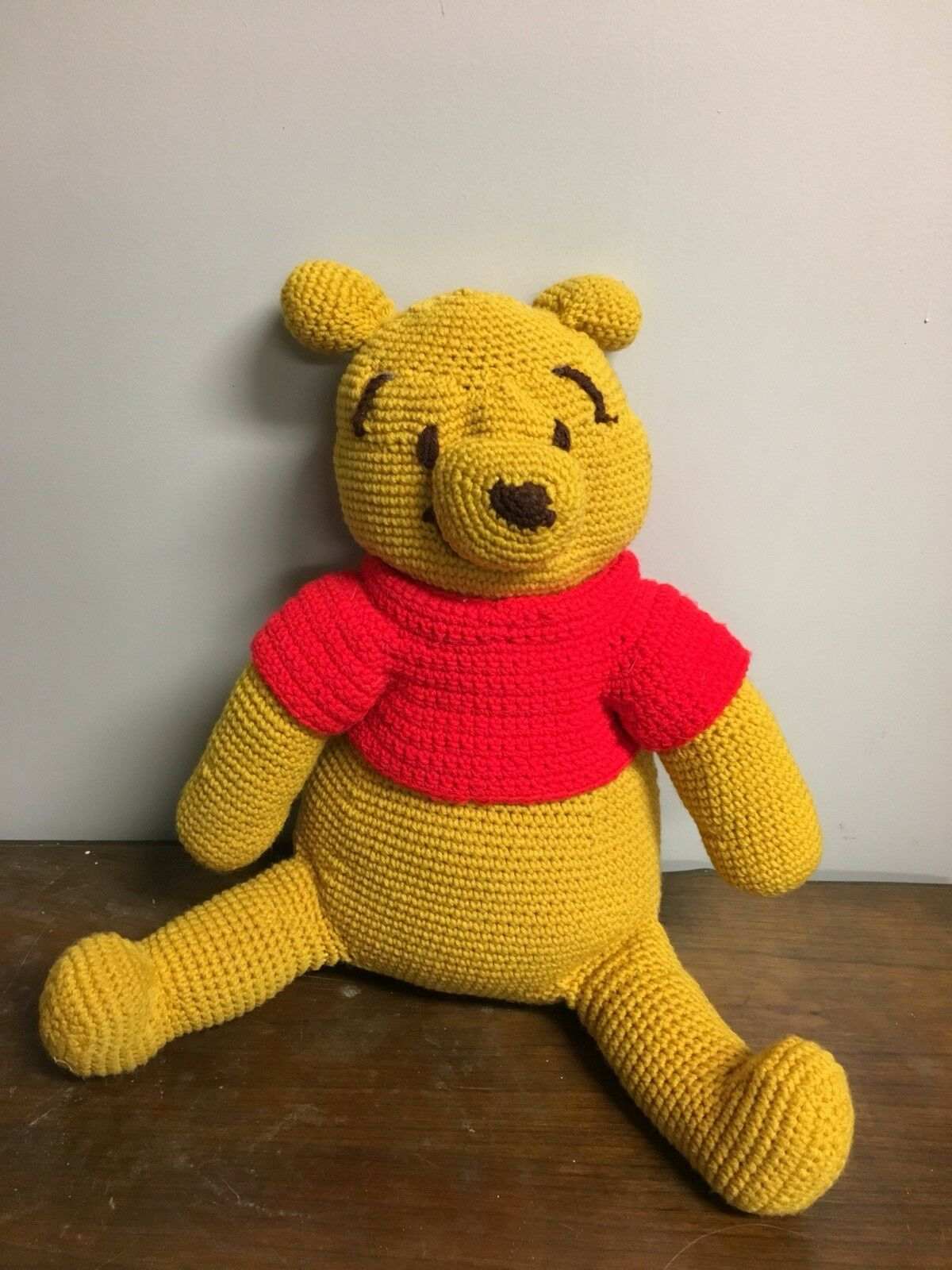 VINTAGE HAND CROCHETED WINNIE THE POOH