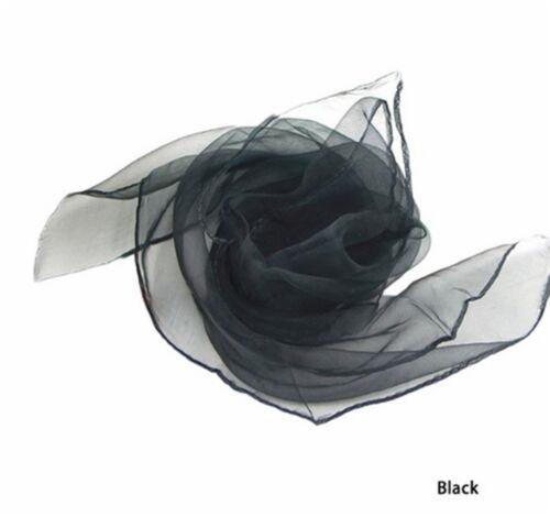Chiffon Chiffon 70cmx70cm 50`er style nickytuch écharpe étole 16 couleurs au choix