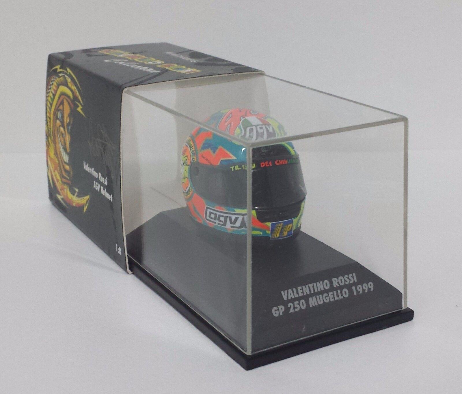 MINICHAMPS VALENTINO ROSSI AGV HELMET HELMET 1 8 WORLD CHAMPION GP MUGELLO 1999