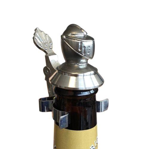 Bierflaschen Zinndeckel Ritter