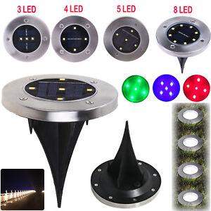 Energia-Solare-2-3-4-5-8-LED-Lampada-sepolto-in-terra-Inground-PONTE-AD-INCASSO-LUCE