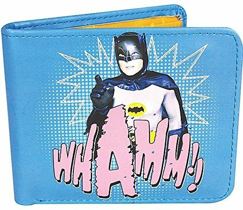 OFFICIAL DC COMICS BATMAN VINTAGE 1966 WHAMM RETRO BI FOLD WALLET GIFT BOXED
