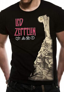 Led-Zeppelin-Hermit-Jimmy-Page-Robert-Plant-Rock-Official-Tee-T-Shirt-Mens
