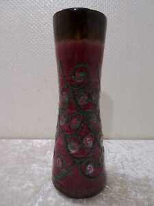 DDR Strehla Keramik Design Vase - Vintage - um 1970 - Fat Lava - 29 cm