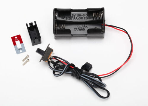 Traxxas 3170X Battery holder 4-cell// on-off switch NEW IN PACKAGE TRA3170X TRA1