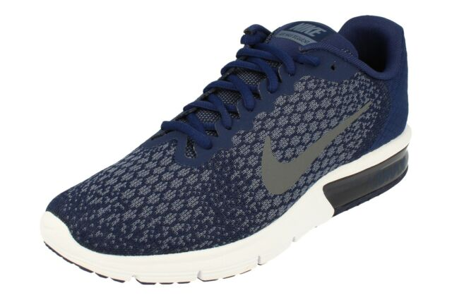 Nike Air Max Sequent 2 Size 9 UK Mens Trainers EU 44 Binary Blue 852461 406