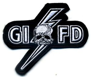 """Noir Label Society Membre Club Collections: 5 """" G. I. F. D. Gifd Repasser Patch"""