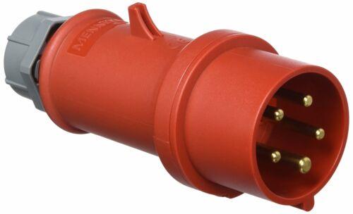 Rot IP44 16 A 101200151 Stecker 5polig CEE 50-60 Hz 400 V