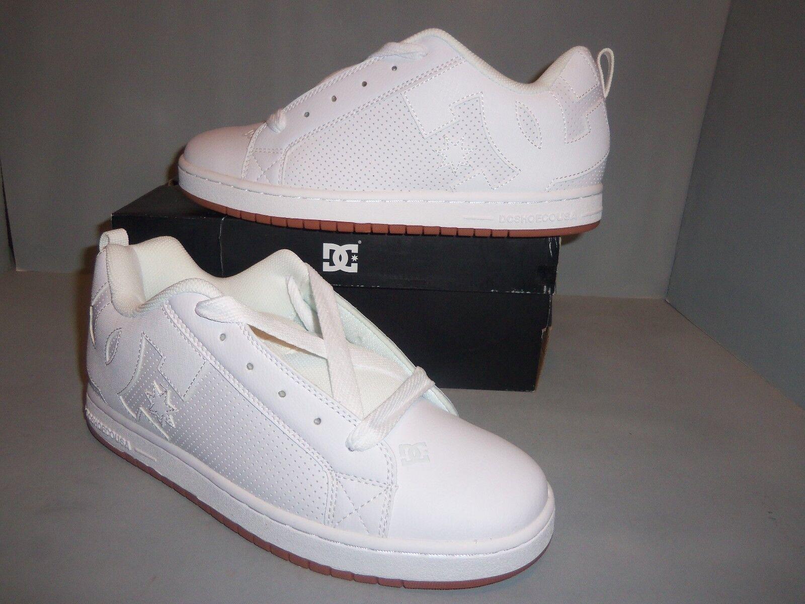 Mens DC Court Graffik Weiß Leather, Weiß & Gum Skate Skate Skate schuhe Größes   300529 NIB 6f90d8