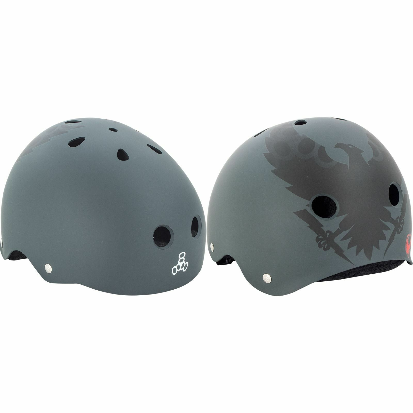 Triple 8 Helmet Vallely Get Used To It - LARGE Charcoal