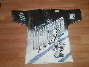 Tampa bay lightning all over print vintage deadstock magic for Tampa t shirt printing