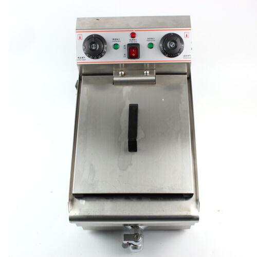 PROFI Elektrische Friteuse Edelstahl Fritteuse Fritöse Kaltzonen 10 L 3000 W