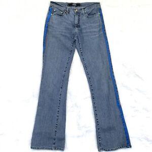medio Versace gamba dritta da taglia 28 blu Couture impreziosita Donna Jeans Lavaggio qqwBg4