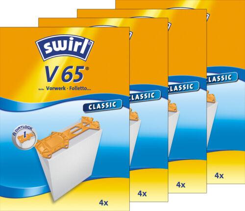 4 Original SWIRL V 65 Classic Vorwerk Kobold 135 16 Staubsaugerbeutel 136