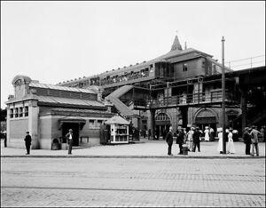 1910-Brooklyn-Subway-Station-Photo-Large-11X14-New-York-Elevated-NY-B-amp-W