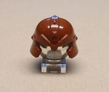 Dwarf Minifig LEGO Headgear Helmet with Cheek Protection - Reddish Brown