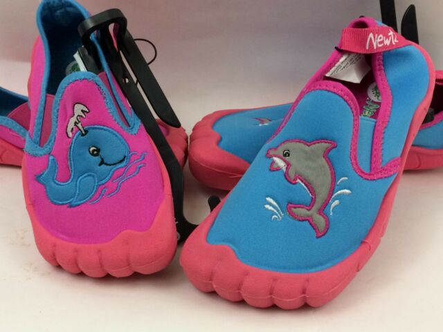 Newtz Girls Pink and Blue Whale Water